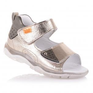 Дитяче взуття PERLINKA (Закриті босоніжки золотистого кольору для дівчаток   )