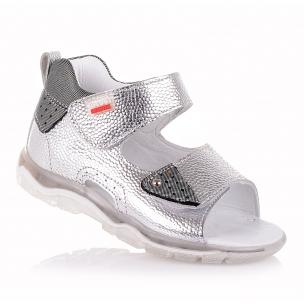 Дитяче взуття PERLINKA (Сріблясті босоніжки на липучках для дівчаток )