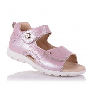 Дитяче взуття PERLINKA (Рожеві босоніжки із закритою п'ятою для дівчаток)