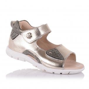 Дитяче взуття PERLINKA (Босоніжки золотистого кольору із закритою п'ятою для дівчат )