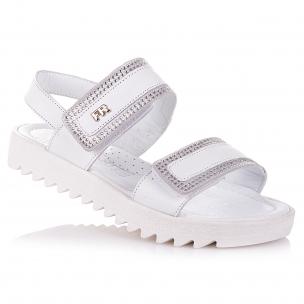 Дитяче взуття PERLINKA (Білі босоніжки зі стразами для дівчат)