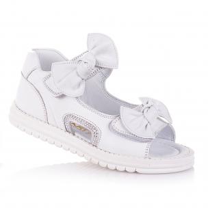 Дитяче взуття PERLINKA (Білі босоніжки зі стразами та бантиками)