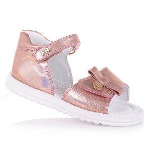 Дитяче взуття PERLINKA (Рожеві шкіряні босоніжки для дівчат)