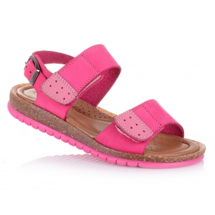 Дитяче взуття PERLINKA (Яскраві малинові босоніжки для маленьких модниць)