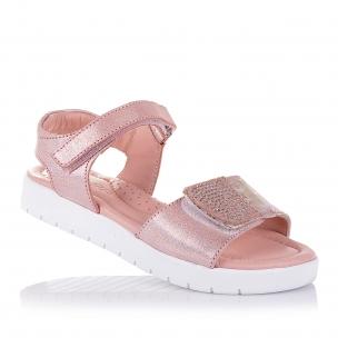 Дитяче взуття PERLINKA (Ніжно-рожеві босоніжки із натуральної шкіри для дівчаток)