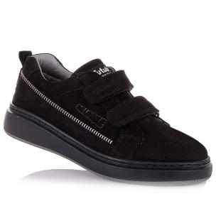 Дитяче взуття PERLINKA (Кросівки з нубуку на липучках в школу)