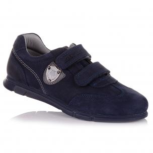Дитяче взуття PERLINKA (Темно-сині кросівки з нубуку в школу)