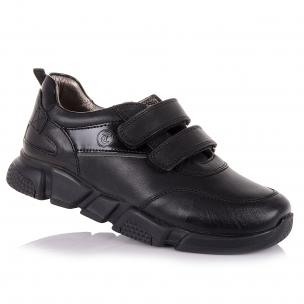 Детская обувь PERLINKA (Кожаные кроссовки на липучках для школы)