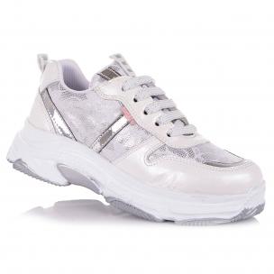 Дитяче взуття PERLINKA (Білосніжні кросівки на шнурівці )