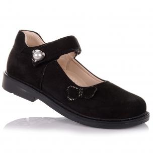 Дитяче взуття PERLINKA (Шкільні туфлі з нубуку та шкіри з каблуком Томаса)