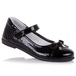 Дитяче взуття PERLINKA (Шкільні лакові туфлі чорного кольору)