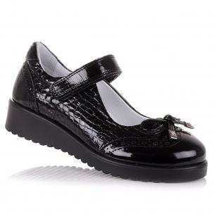 Дитяче взуття PERLINKA (Лакові туфлі на ребристій підошві для школи)