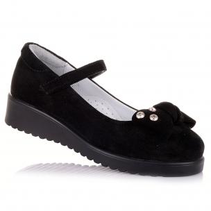 Дитяче взуття PERLINKA (Шкільні замшеві туфлі на липучці)