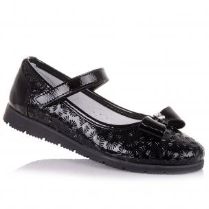 Дитяче взуття PERLINKA (Чорні лакові туфлі для школи)