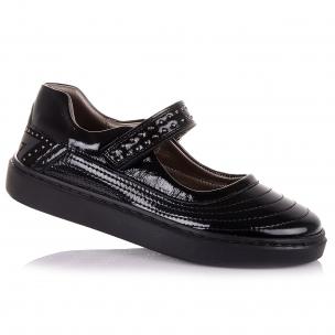 Дитяче взуття PERLINKA (Шкільні лакові туфлі на липучці)