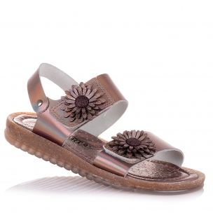 Детская обувь PERLINKA (Кожаные босоножки с «цветами»)