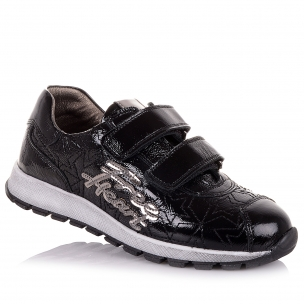 Дитяче взуття PERLINKA (Лакові кросівки на липучках (школа))