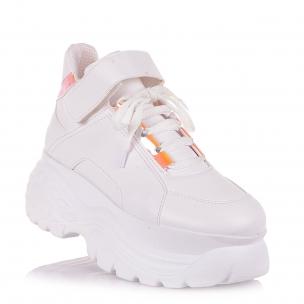 Детская обувь PERLINKA (Белые кроссовки на высокой платформе)