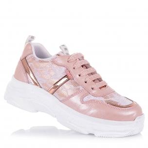 Дитяче взуття PERLINKA (Ніжно-рожеві кросівки із шкіри та текстилю)