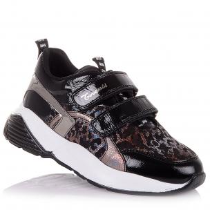 Дитяче взуття PERLINKA (Лакові кросівки із нубуку та шкіри в школу )