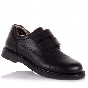 Дитяче взуття PERLINKA (Шкільні шкіряні туфлі на липучках)