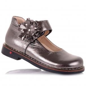 Дитяче взуття PERLINKA (Шкільні шкіряні туфлі золотистого кольору)