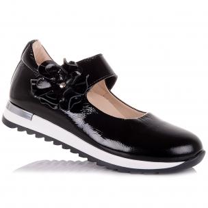 Детская обувь PERLINKA (Школьные лаковые туфли на ребристой подошве)