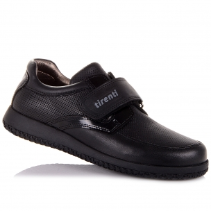 Детская обувь PERLINKA (Кожаные мокасины на липучке для школы)