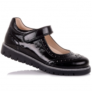 Детская обувь PERLINKA (Школьные лаковые туфли на липучке)