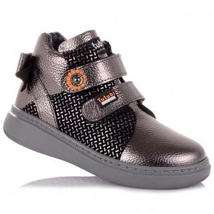 Дитяче взуття PERLINKA (Золотисті демісезонні черевики на липучках)