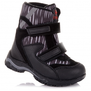 Дитяче взуття PERLINKA (Зимові черевики із замші та текстилю)