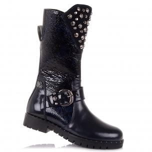 Детская обувь PERLINKA (Зимние кожаные сапоги с мехом)