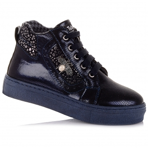 Детская обувь PERLINKA (Демисезонные ботинки из нубука на шнурках)