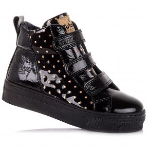 Дитяче взуття PERLINKA (Лакові демісезонні черевики на липучках)