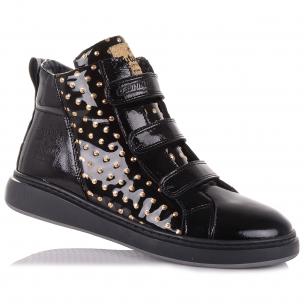 Детская обувь PERLINKA (Лаковые демисезонные ботинки на липучках)