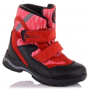 Дитяче взуття PERLINKA (Яскраві зимові чоботи із замші та текстилю)