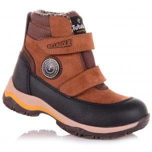 Детская обувь PERLINKA (Коричневые демисезонные ботинки из нубука)