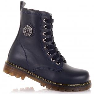Дитяче взуття PERLINKA (Темно-сині демісезонні черевики на шнурках)