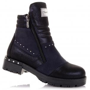 Дитяче взуття PERLINKA (Темно-сині черевики із нубуку)