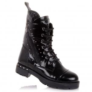 Дитяче взуття PERLINKA (Лакові зимові чоботи на шнурках)
