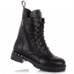 Дитяче взуття PERLINKA (Зимові шкіряні чоботи на шнуровці)