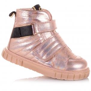 Дитяче взуття PERLINKA (Ніжно-рожеві демісезонні черевики на липучках)