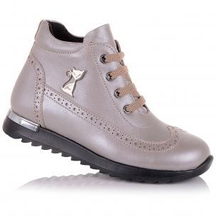 Детская обувь PERLINKA (Демисезонные ботинки из кожи, на шнурках)