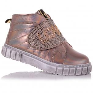 Дитяче взуття PERLINKA (Демісезонні черевики на широкій липучці з декором)