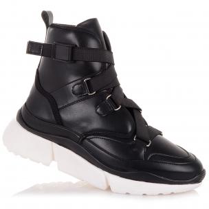 Детская обувь PERLINKA (Демисезонные ботинки на рельефной белой подошве)
