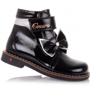 Детская обувь PERLINKA (Лаковые демисезонные ботинки с бантиком)