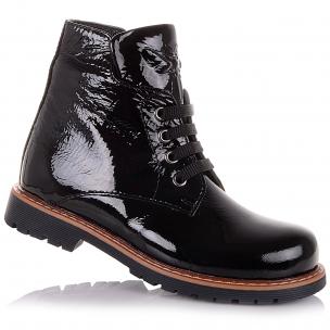 Детская обувь PERLINKA (Лаковые демисезонные ботинки на шнурках)