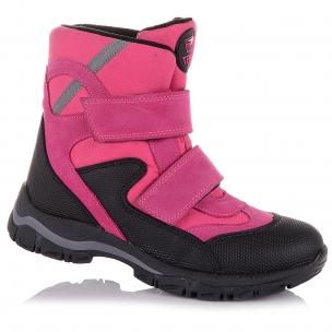 Детская обувь PERLINKA (Розовые зимние сапоги с черными вставками)
