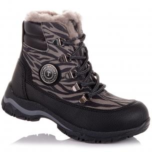 Детская обувь PERLINKA (Зимние ботинки из кожи и замши)