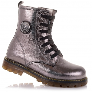 Детская обувь PERLINKA (Зимние кожаные ботинки на шнуровке)